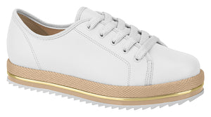 Beira Rio 4196.303 Women Fashion Platform Loafer in White