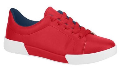Beira Rio 4213.100-1260 Women Platform Casual Sneaker in Red With Lace