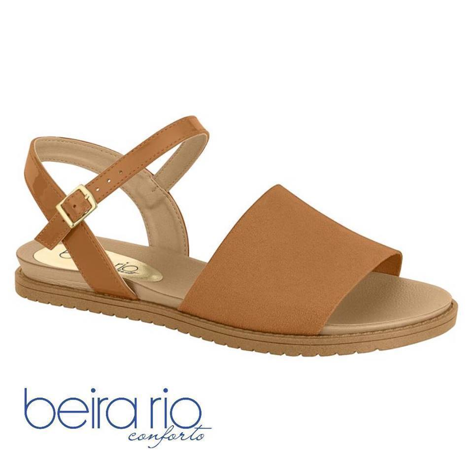 Beira Rio 8337.109-1341 Women Fashion Flat Summer Sandal Comfort in Caramel