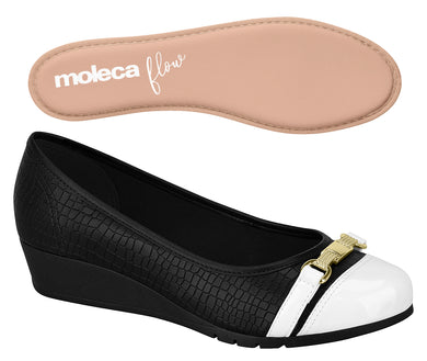 Moleca Flow 5156.752 Women Fashion Shoes Black & White