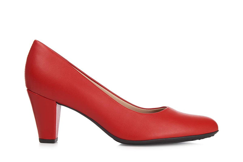 Piccadilly Ref: 700061 Red Flight Attendant Crew Shoes For Uniform Or Fashion Business High Heel