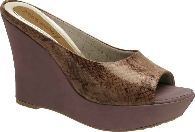 Piccadilly 660042-96 Women Flip Flop Wedge Platform Animal Print