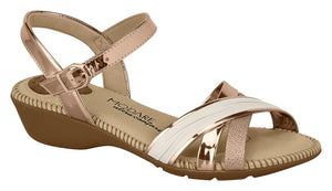 Modare 7017.435 Women Flat Fashion Sandal Travel Casual Shoe in Bronze Cream