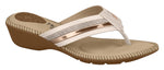 Modare 7017.453 Women Fashion Slipper in Cream Golden Pink