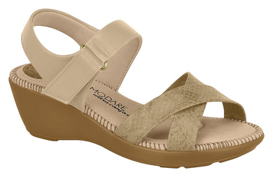 Modare 7023.337 Women Wedge Fashion Sandal Travel Casual Shoe in Multi Nude