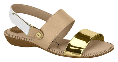 Modare 7025.347 Women Fashion Sandal in Beige Gold White