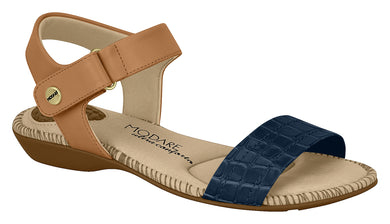 Modare 7025.350 Women Fashion Sandal in Navy Camel