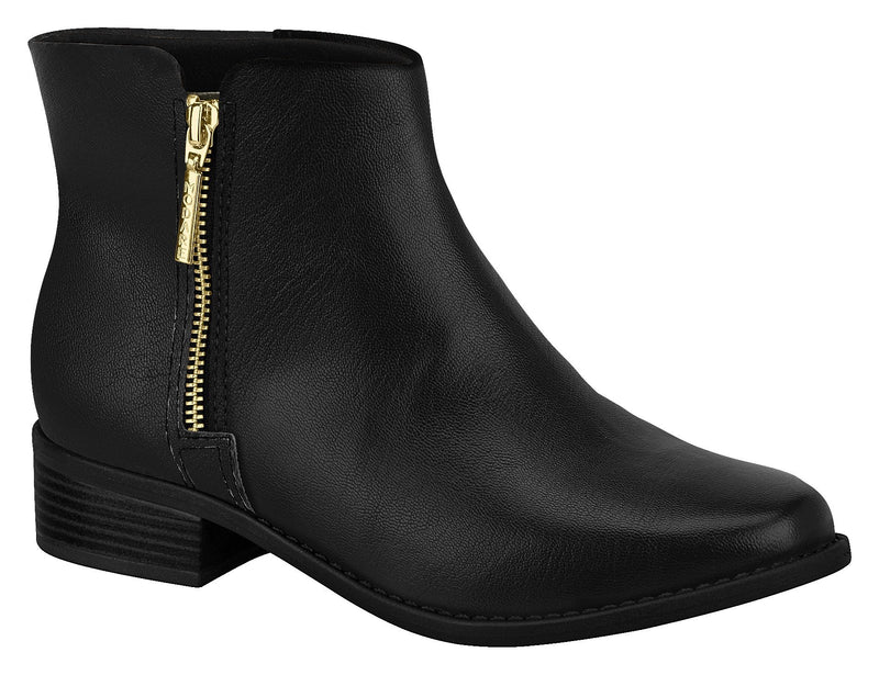 Women Fashion Comfortable Ankle Boot in Low Heel Black Beira Rio 7057.112
