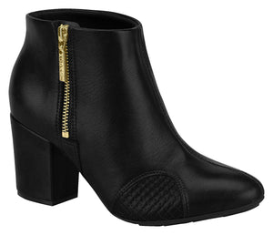 Modare 7063.101 Women Fashion Comfortable Ankle Boot Mid Heel in Black