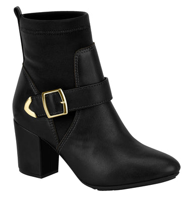 Sock-Style Women Fashion Comfortable Ankle Boot in Black Beira Rio 7063.102