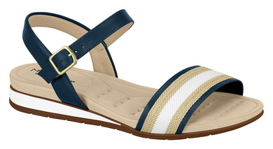 Modare 7113.122 Women Wedge Fashion Sandal Travel Casual Shoe in Navy