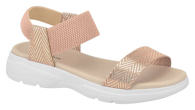 Beira Rio 7124.102-1250 Women Flat Platform Wedge Fashion Summer Comfort Sandal in Rose Gold