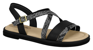 Modare 7139.104 Women Flat Fashion Sandal Travel Casual Shoe in Black