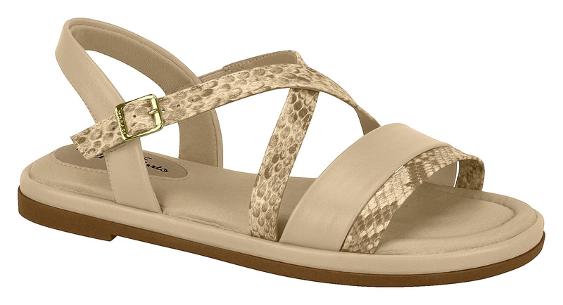 Modare 7139.104 Women Flat Fashion Sandal Travel Casual Shoe in Multi Beige