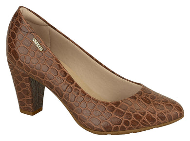 Modare 7305.100 Women Fashion Comfortable Innersole Shoe Croco Brown