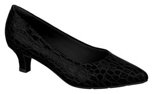 Modare 7314.100 Women Fashion Business Everyday Shoes in Black Crocodile