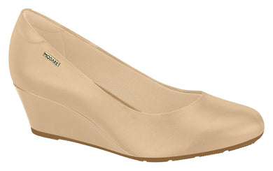 Beira Rio 7324.100-1221 Women Fashion Wedge Round Toe Shoe Comfort Business in Beige