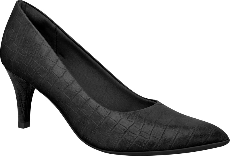 Piccadilly 745035 Women Fashion Business Classic Scarpine Heel in Croco Black