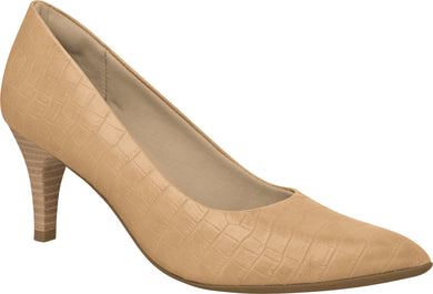 Piccadilly 745035 Women Fashion Business Classic Scarpine Heel in Croco Nude
