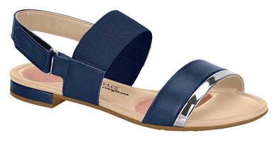 Beira Rio 7502.216-1298 Women Fashion Flat Sandal Comfort Business in Navy