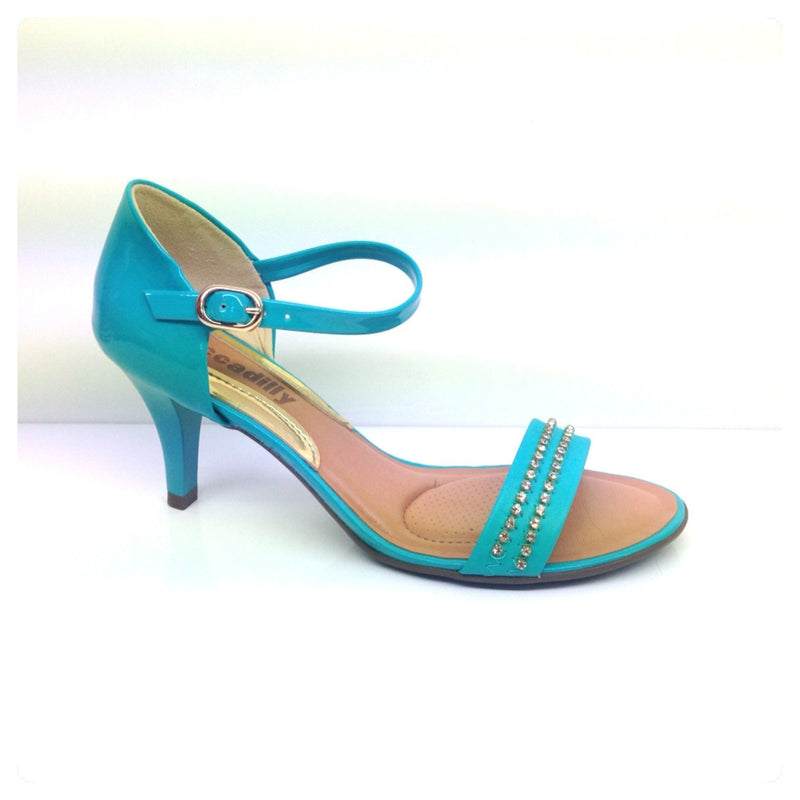 Piccadilly 801149-358 N Women Sandal Mid Heel Turquoise