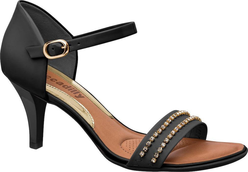 Piccadilly 801149-367 Women Sandal Mid Heel Black