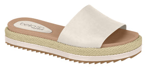 Modare 8354.800 Women Fashion Platform Slipper in Cream