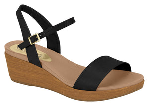Modare 8381.106 Women Fashion Sandal in Wedge Black