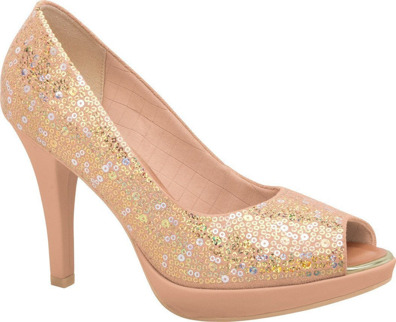 Piccadilly 841013-733 Women Fashion Comfortable High Heel Shoe Sparkle