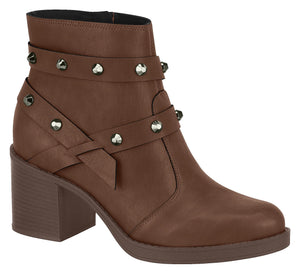 Modare 9065.103 Women Fashion Comfortable Innersole Ankle Boot in Coffee