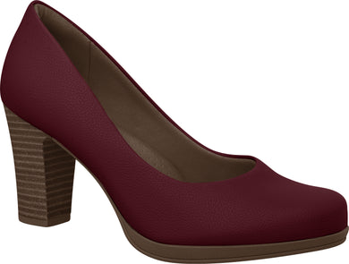Piccadilly 130185 Women Fashion Business Mid Heel Shoe in Wine