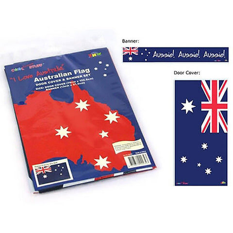 Door Cover & Banner Set Australian Flag,