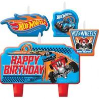 Hot Wheels Birthday Candle Set