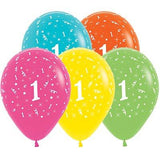 Sempertex 30cm Age 1 Tropical Assorted Latex Balloons, 25PK