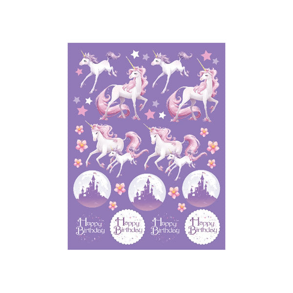 Unicorn Fantasy Value Stickers  - Pack of 4
