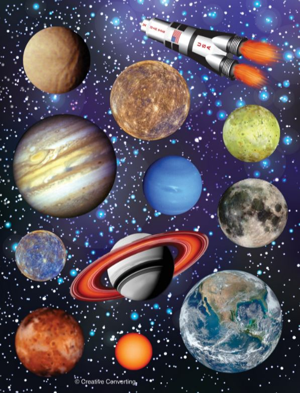 Space Blast Stickers Assorted Designs  - Pack of 4