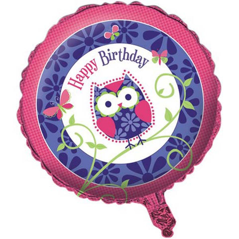 Owl Pal Birthday 45cm Foil Balloon