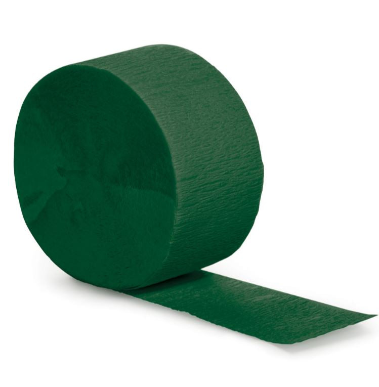 Hunter Green Crepe Streamer 24.68 Metres Long (81FT) - Each