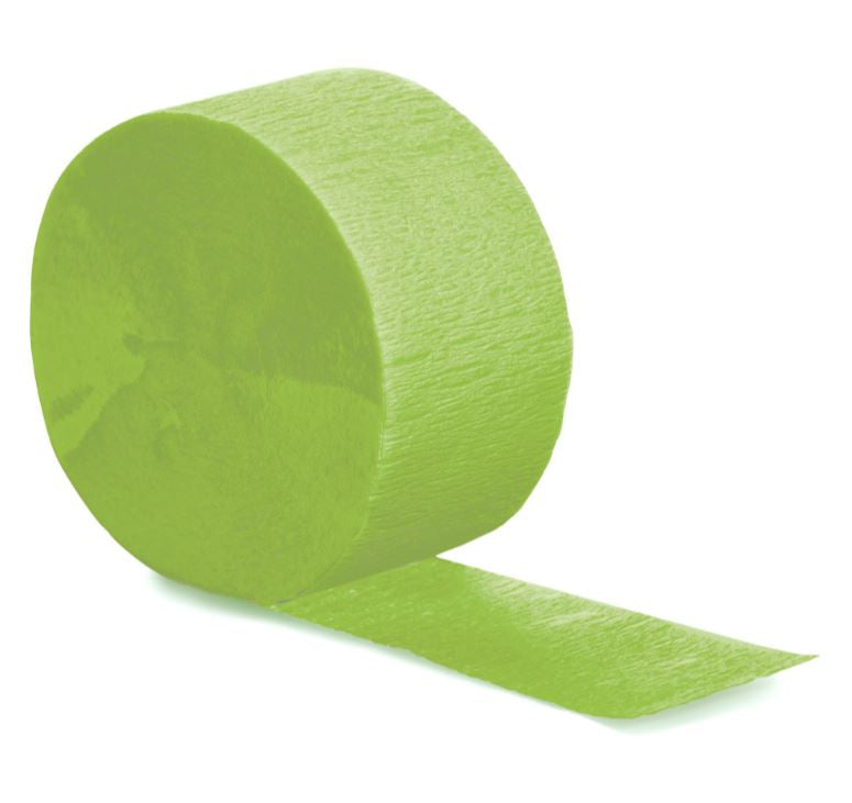 Fresh Lime Crepe Streamer 24.68 Metres Long (81FT) - Each