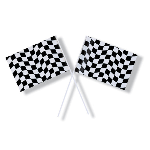 Black & White Checkered Plastic