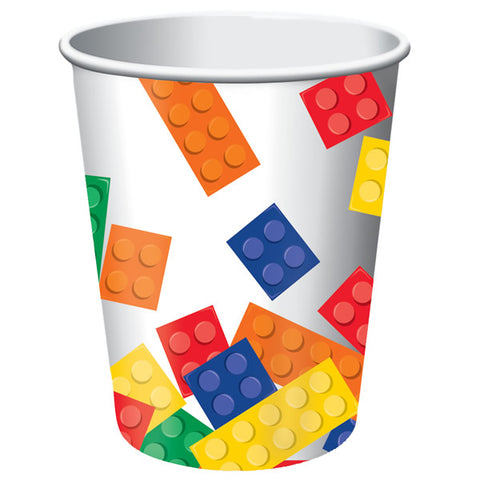 Block Party Cups Paper 266ml  - Pack of 8