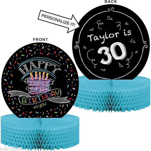 Chalk Birthday Centrepiece Honeycomb (1 piece of Chalk Included) 30cm x 23cm - Each