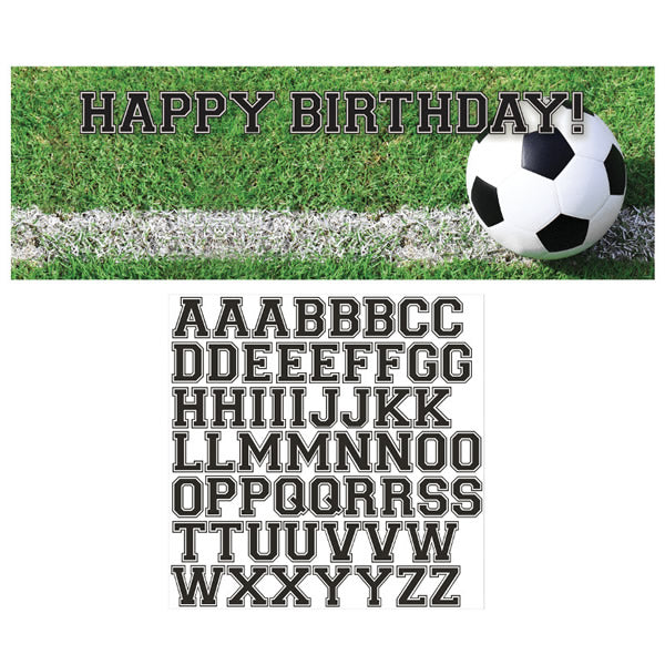 Soccer Fanatic Giant Banner & Stickers Plastic (51cm x 152cm) Includes alphabet stickers for customising banner - Each