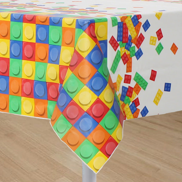 Block Party Tablecover Plastic 137cm x 259cm - Each