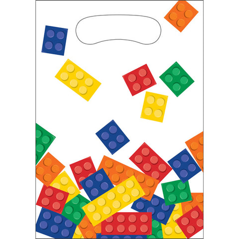 Block Party Loot Bags Plastic 23cm x 16cm - Pack of 8