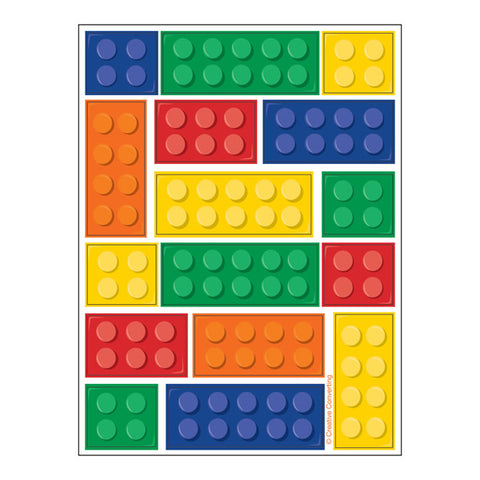 Block Party Stickers Sheets 15cm x 11cm - 4 Sticker Sheets per Pack - Each