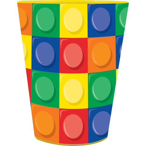 Block Party Plastic Souvenir Cup 473ml - Each