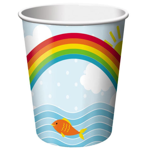 Noah's Ark Cups Paper 266ml  - Pack of 8