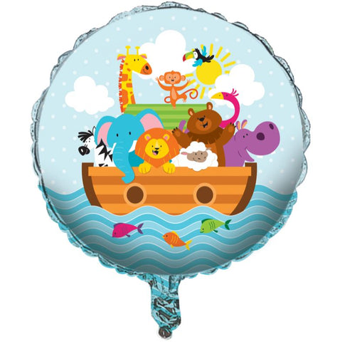 45cm Noah's Ark Design Foil Balloon (Self sealing balloon, requires helium inflation) - Each