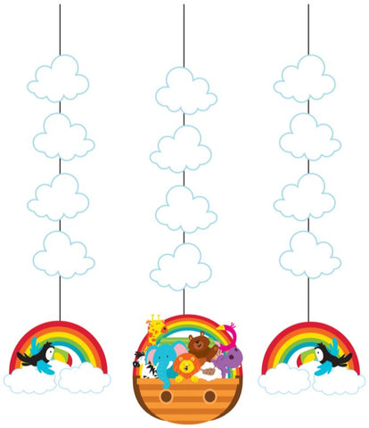 Noah's Ark Hanging Cutouts 91cm - Pack of 3